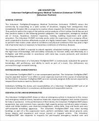 Firefighter Job Description Resume by Sample Firefighter Resume 8 Examples In Word Pdf