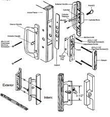 Patio Door Handle With Lock Sliding Patio Door Parts All Handles And Replacement Parts