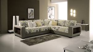 modern l shaped gray and white sectional sofa bed combined small