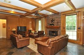 Craftsman Ceiling Fan by Craftsman Living Room With Ceiling Fan U0026 Box Ceiling In Humble Tx
