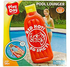 Amazon Pool Floats Amazon Com Red Sauce Pool Float Lounger 72 X 27 X 7 Toys U0026 Games