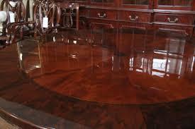 round mahogany dining table round mahogany dining table with burled walnut bandi on dining room