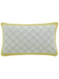sanderson wisteria blossom cushion 50x30cm ochre grey house of