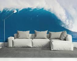 deep blue wave wall mural gadget flow deep blue wave wall mural