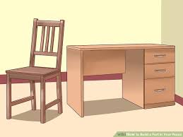 Dresser And Desk 4 Ways To Build A Fort In Your Room Wikihow