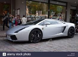 grey lamborghini murcielago lamborghini gallardo sports car silver colour side view stock