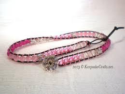bracelet bead leather images Beaded leather wrap bracelet jpg