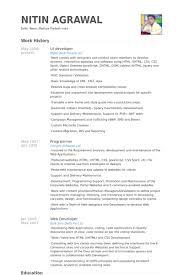 opulent ideas ui developer resume 14 exciting free sample java