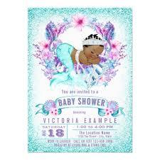 mermaid baby shower invitations ethnic baby mermaid baby shower invitation zazzle