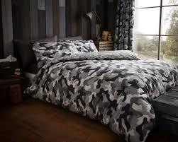 Camo Duvet Cover Army Camouflage Camo Military Duvet Quilt Cover Bedding Linen Set