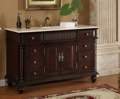 bathroom sink cabinets with marble top 53 inch bathroom vanity single sink mahogany base cream marble top