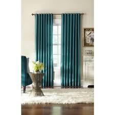 home decorators collection semi opaque teal slub faux silk back