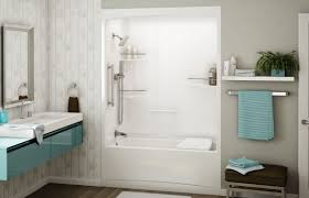 bathroom excellent shower over bath ideas in tiny home and for white soaking tub combo with wall mounted shower faucet and corner shelf combined blue melamine floting