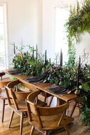wedding platters picture of greenery black candles glasses and platters for
