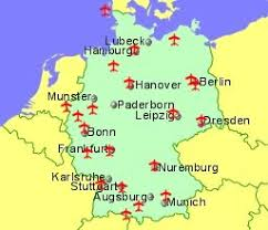 map germnay germany airports flights to germany from the uk or ireland