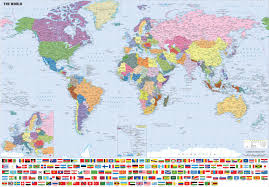 Map Of The World Poster by Map Of The World Laminated 24x36