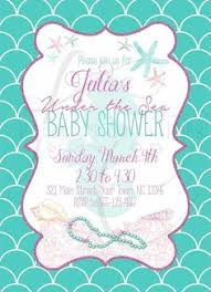 the sea baby shower invitations the sea baby shower mermaid baby shower invitation
