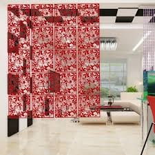 yazi 4pcs butterfly flower hanging screen panel room divider