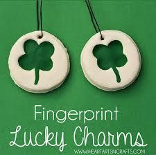 keepsake charms fingerprint lucky charm keepsake kids craft i heart arts n crafts