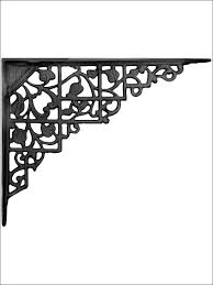 furniture awesome decorative iron brackets small wooden shelf