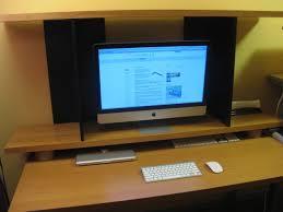 Monitor Pedestal Stand Elevated Imac Monitor Shelf Ikea Hackers Ikea Hackers