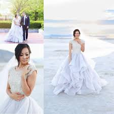 modest outdoor beach wedding dresses ball gown with short sleeves