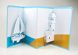 lighthouse home decor sailboat and lighthouse nautical pop up 3d card home décor