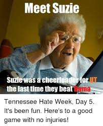 Funny College Football Memes - meet suzie suziewas a cheerleaderfor the last time they beat ut bama