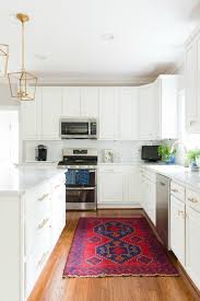 White And Blue Kitchen - our white and gold kitchen makeover laura trevey home