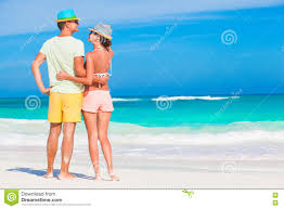 Tropical Clothes For Travel Romantic Couple In Bright Clothes Enjoying Sunny Day At Tropical