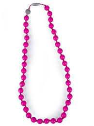 pink beads necklace images Itzy ritzy teething happens chewable mom jewelry round bead jpg