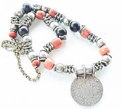 coral necklace silver images Maria theresa coral silver coin necklace jpg