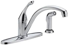 delta 440 dst collins single handle kitchen faucet with spray