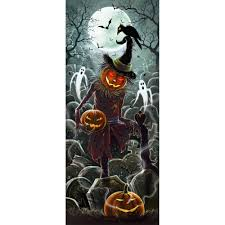 scarecrow halloween lights and sounds halloween door panel scarecrow halloween