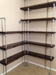 Kitchen Shelf Ideas Incredible Metal Corner Shelving Unit Buy Old Rectory Traditional