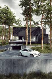 house basement parking design dune in poland by tamizo architects