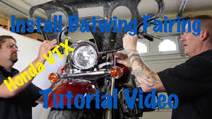 install aftermarket batwing fairing on a honda vtx motorcycle