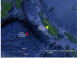 Earthquake Map Usgs Papua New Guinea Earthquake Did The M U003d7 9 Shock Trigger A Distant