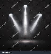 spotlights effect on black transparent vector stock vector