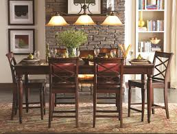cherry dining room set aspenhome cambridge 7pc counter height leg dining table set in