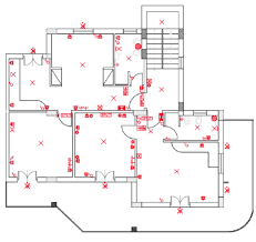 Single Family Floor Plans Floor Plan Of The Test Single Family House With Indication Of
