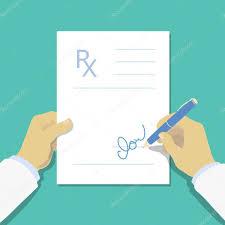 medical prescription pad flat design style rx form medical