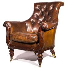 Library Chair Armchair Library Chair English Antique Victorian Mahogany And