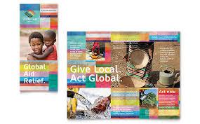 ngo brochure templates non profit marketing brochures flyers newsletters