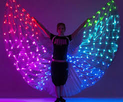 led light up pasties up wings