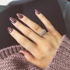 brown almond nails for fall nailed it pinterest almond nails