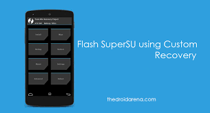 custom recovery android and install supersu zip and root your android phone
