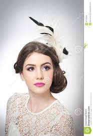 hairstyle and make up beautiful young art portrait genuine