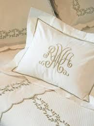 Monogrammed Comforter Sets Monogrammed Bed Linens Luxury Monogrammed Bedding