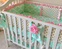 Bedding Sets For Baby Girls by Fancy Damask Bedding Sets For Baby Pink Crib Set